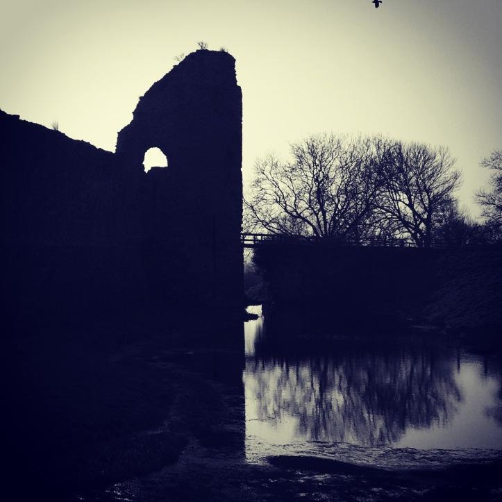 Photograph: Pevensey Castle, Sussex.